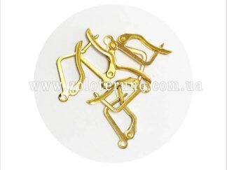 Ювелірні швензи для сережок у формі підкови. Колір золотий