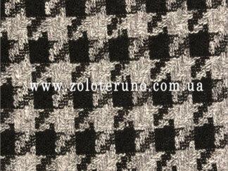 Костюмна тканина, колір чорний квадрат, ширина 150 см