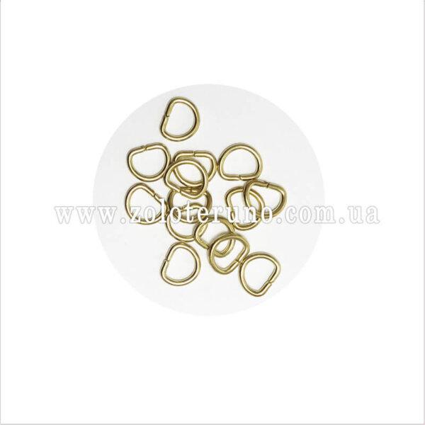 Півкільце металеве, колір золото, 10 мм