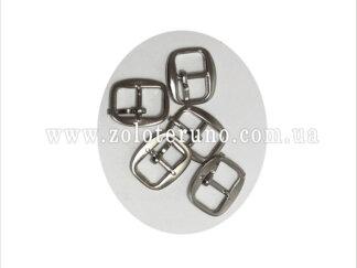 Пряжка металева, колір нікель, 10 мм