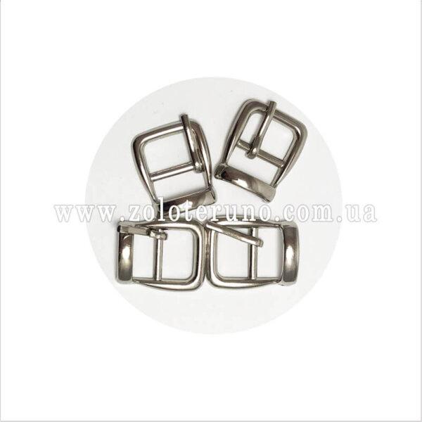Пряжка металева, колір нікель, 15 мм