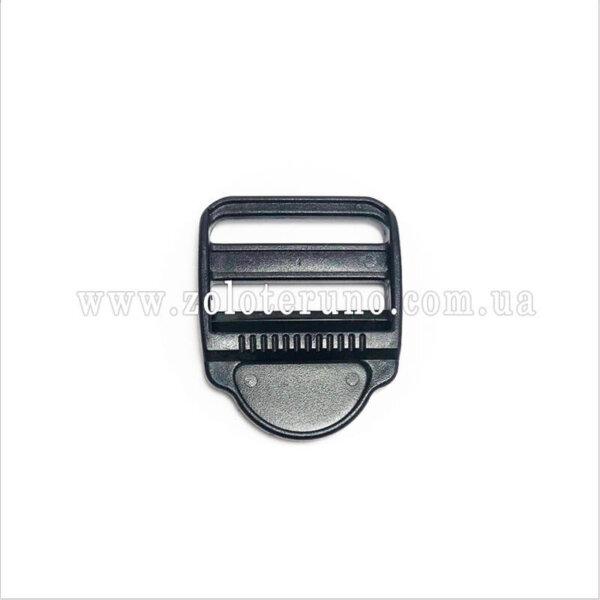 Пряжка строп 3х-щілинна 20 мм, колір чорний