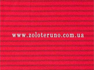 Трикотаж, колір червоний з полосками, ширина 150 см