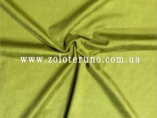 Замша штучна, колір зелений, ширина 150 см
