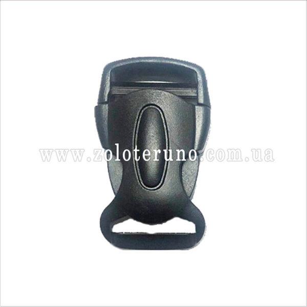 Застібка пластмасова фастекс, чорна, 25 мм