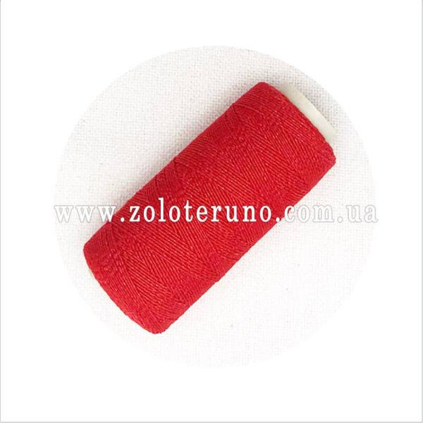 Нитка резинка для вязания, колір яскраво-червона
