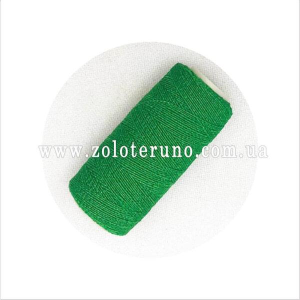 нитка резинка для ткани зеленый цвет