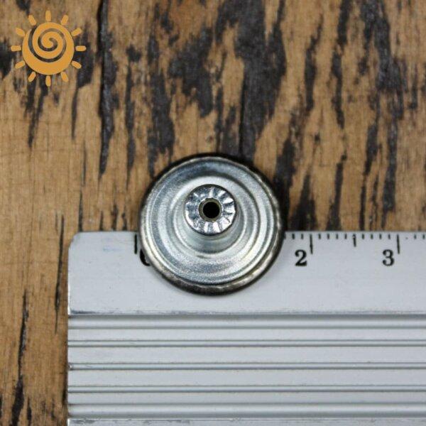 Джинсова заклепка-кнопка, 17 мм, колір темне срібло 1 18868 1
