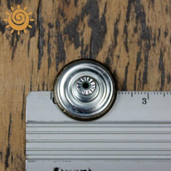 Джинсова заклепка-кнопка, 15 мм, колір темне срібло 1 18871 3