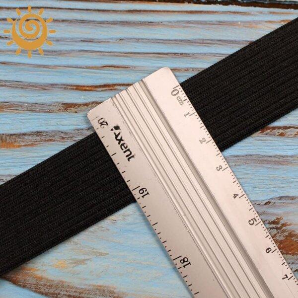 Резинка еластична 25 мм, колір чорний 1