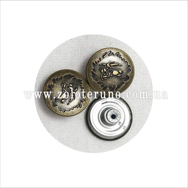 заклепка для одежды, 20 мм, темное серебро