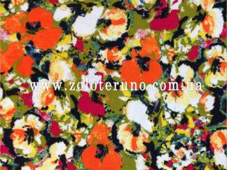 Трикотаж, колір яскравий з квітами, ширина 150 см