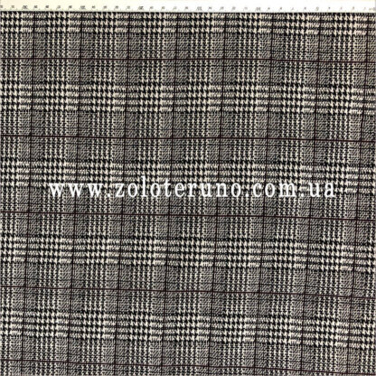 Трикотаж, колір сірий з кліткою, ширина 150 см