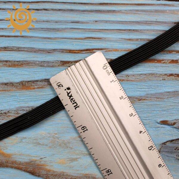 Резинка еластична 5 мм, колір чорний 1