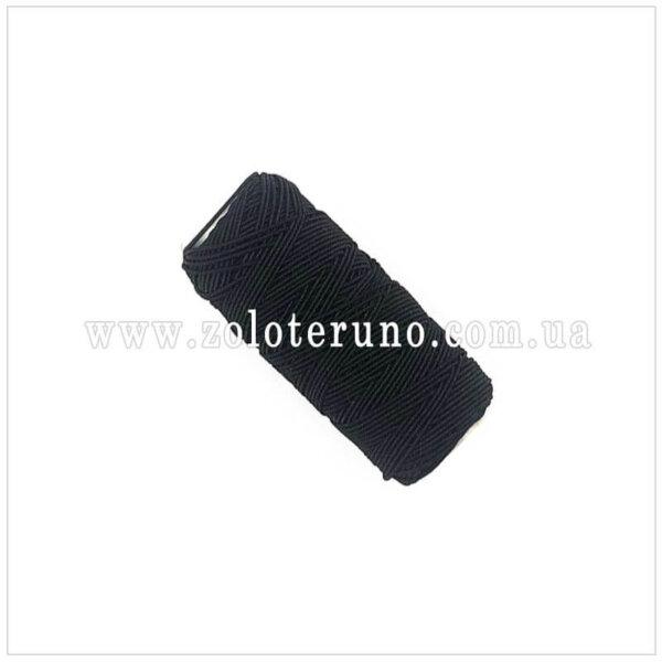 Резинка нитка, колір чорний