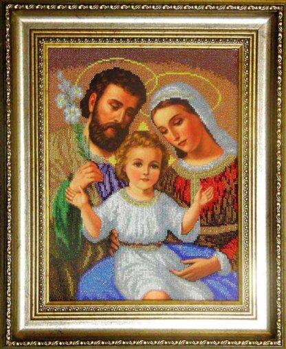 Канва для вишивання бісером на релігійну тематику - Святе сімейство (мале)