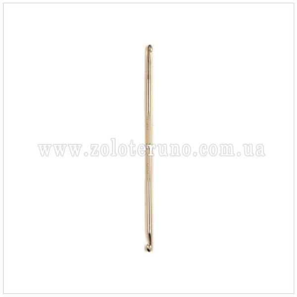 Гачок для вязання металевий двохсторонній, розміра 9-10 мм, довжина 10 см