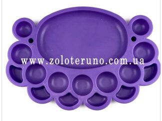 Органайзер для бісеру овальний (16 комірок) фіолетовий