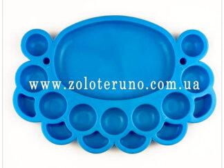 Органайзер для бісеру овальний (16 комірок) синій