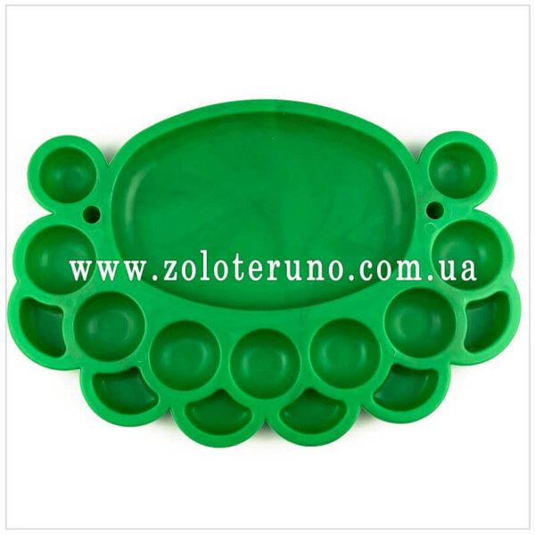 Органайзер для бісеру овальний (16 комірок) зелений