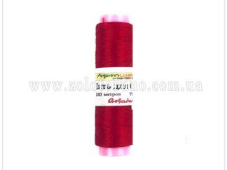 Нитка бісерна Ariadna Б-91 100м, колір червоний