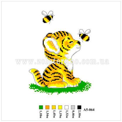 Набір для вишивання нитками А5-064 Котик
