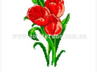 Набір для вишивання нитками А5-065 Тюльпани