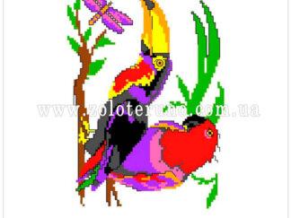 Набір для вишивання нитками А5-082 Попугай