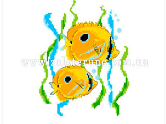 Набір для вишивання нитками А5-084 Рибки
