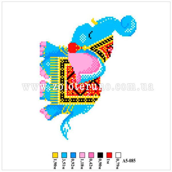 Набір для вишивання нитками А5-085 Слонення