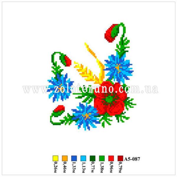 Набір для вишивання нитками, малюнок на канві А5-087