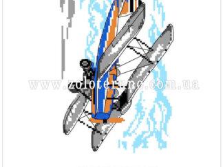 Набір для вишивання нитками А5-092 Літачлк