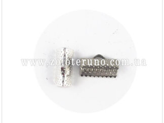 Затискач для стрічок, 6 мм, колір срібний