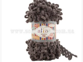 Пряжа: Puffy Fine Склад пряжі: 100% мікрополіестр. Колір молочно-коричневий