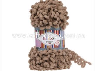 Пряжа: Puffy Fine Склад пряжі: 100% мікрополіестр. Колір Колір молочно-коричневий