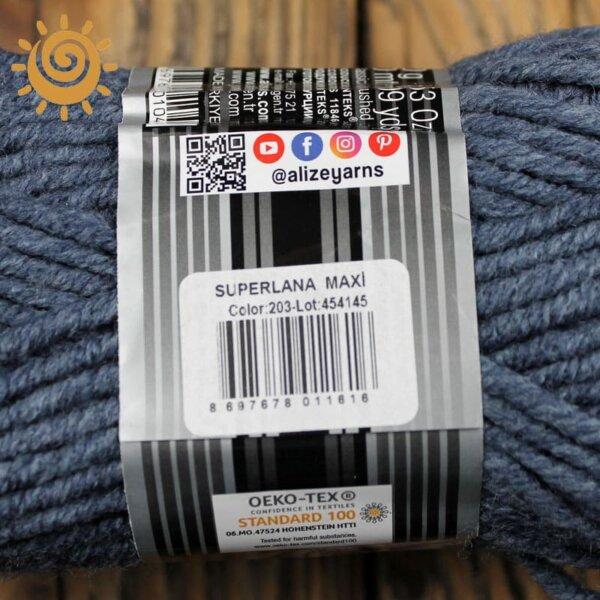 Alize SuperLana Maxi 203 джинс меланж 1