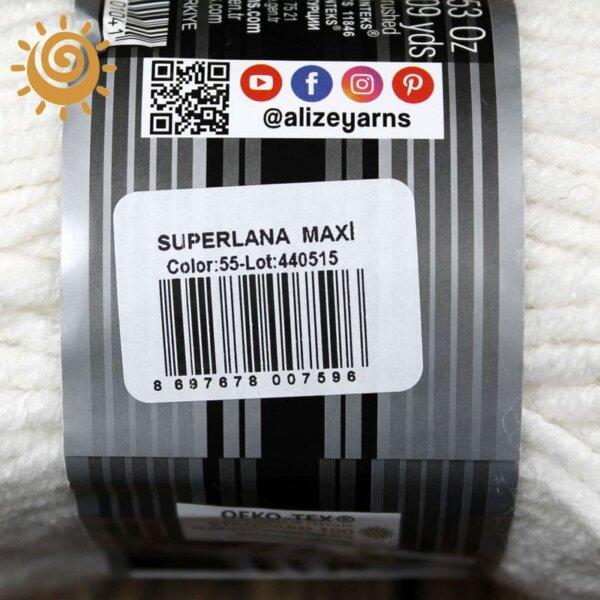 Alize SuperLana Maxi 55 білий 1
