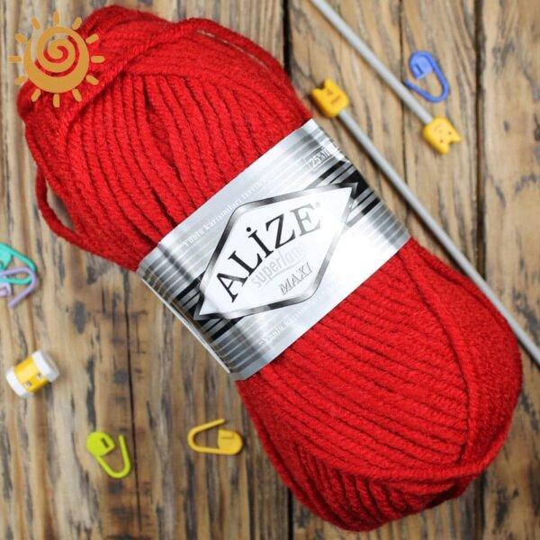 Alize SuperLana Maxi 56 червоний 3