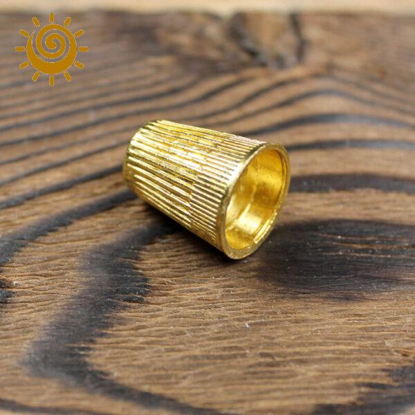 Наперсток металевий №10, колір золотий 1