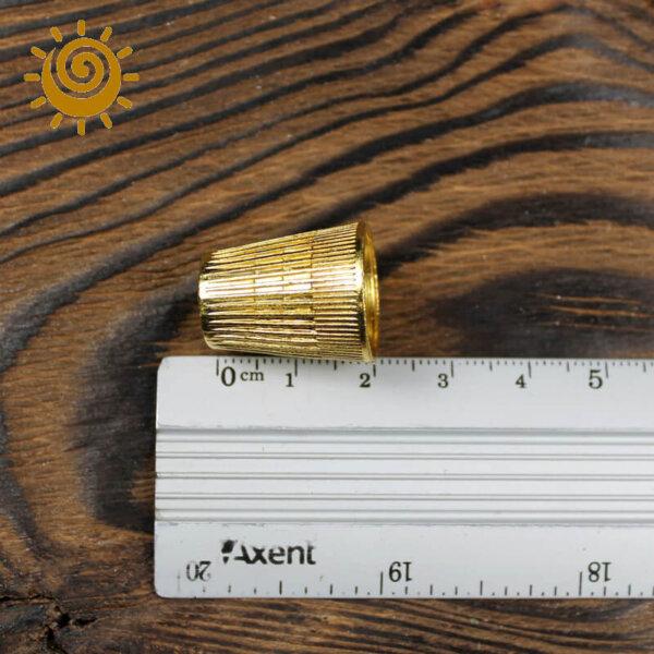 Наперсток металевий №10, колір золотий 2