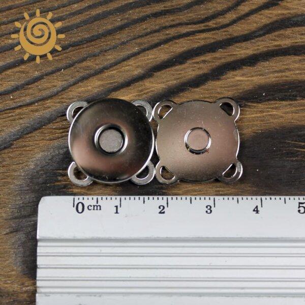 Пришивна кнопка-магніт для сумки 20мм, колір нікель 1