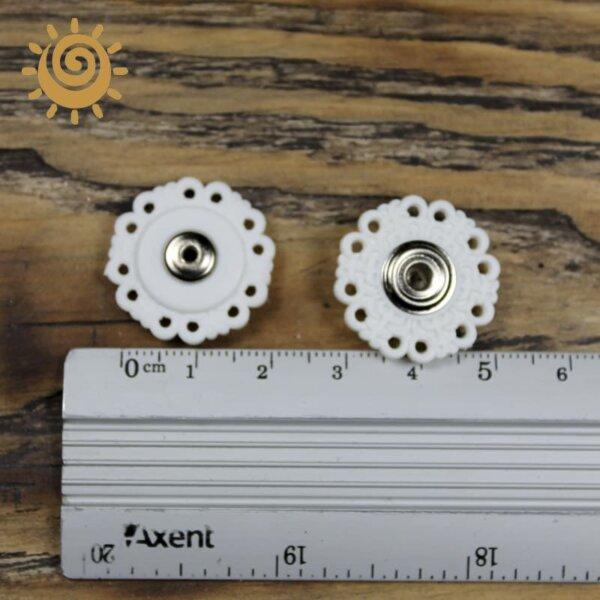 Пришивна кнопка кругла, 20мм, колір білий 1