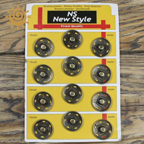 Кнопка пришивна металева 26 мм, колір мідний 1