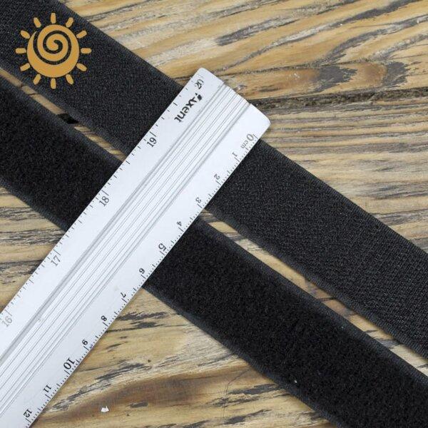 Стрічка липучка контактна 30 мм, колір чорний 1