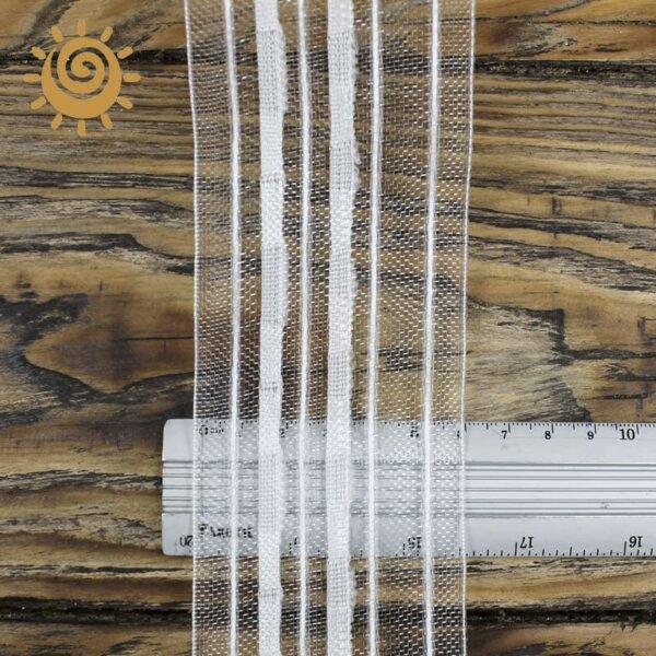 Стрічка шторна органза 60 мм, колір білий 1