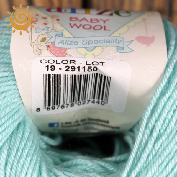 Alize Baby wool 19 водяна зелень 3