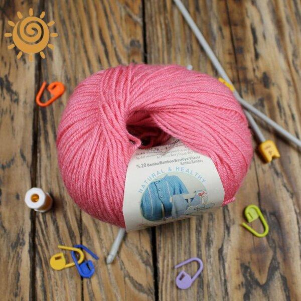 Alize Baby wool 33 темно-рожевий 2