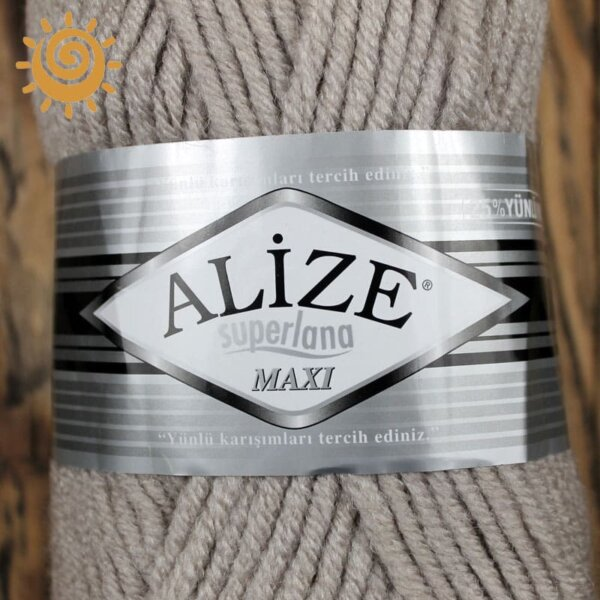 Alize SuperLana Maxi 652 пепельний 1
