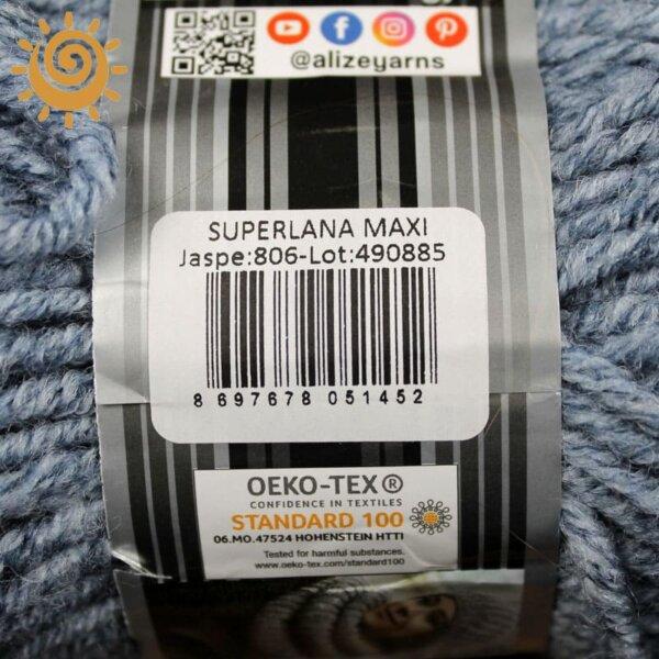 Alize SuperLana Maxi 806 синій жаспе 4