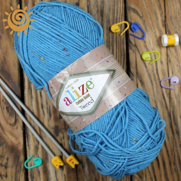 Alize Cotton Tweed 245 блакитний 2